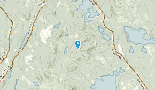 Dedham, Maine Map