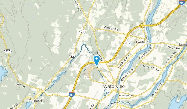 Fairfield Center, Maine Map