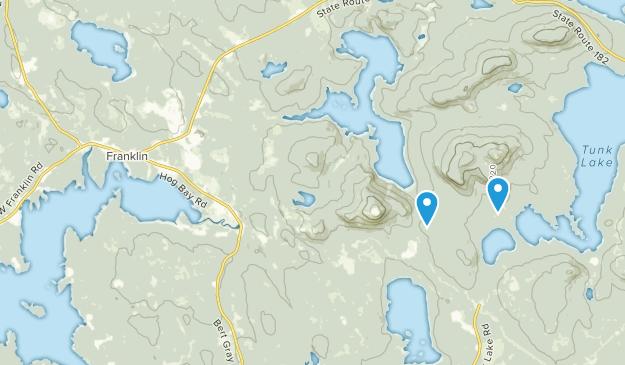 Franklin, Maine Map