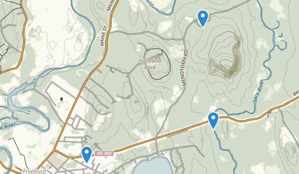 Fryeburg, Maine Map
