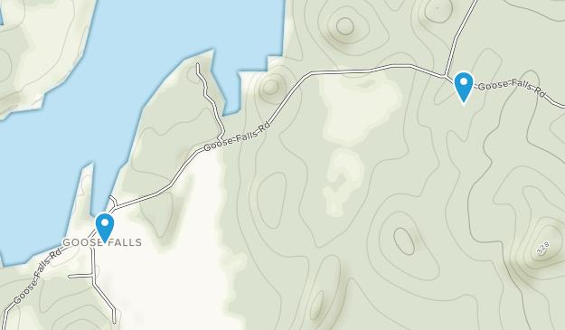 Goose Falls, Maine Map