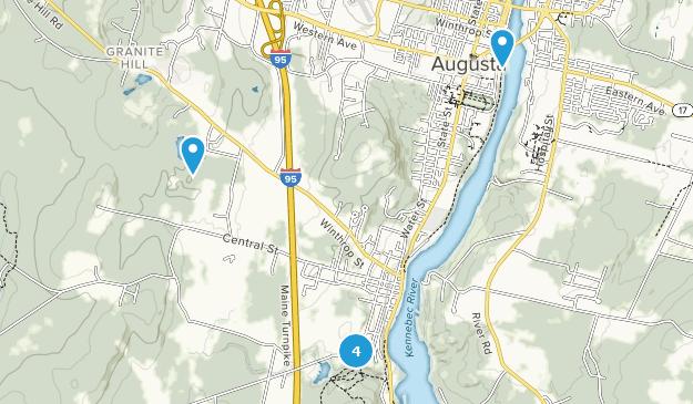 Hallowell, Maine Map