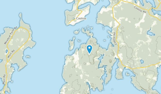 Harborside, Maine Map