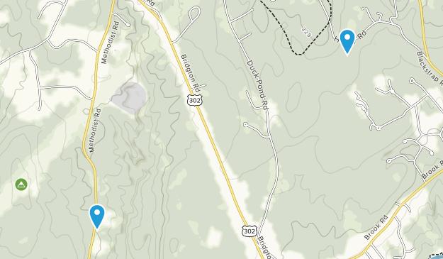 Highland Lake, Maine Map