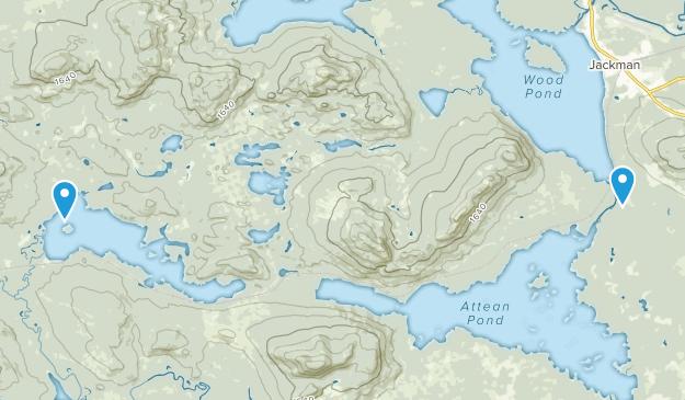 Jackman, Maine Map