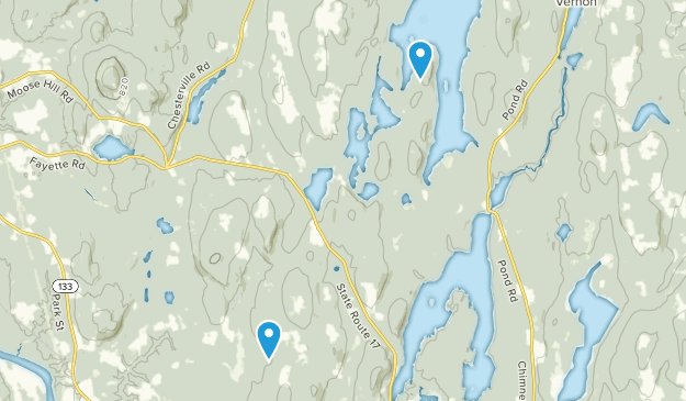 Kents Hill, Maine Map