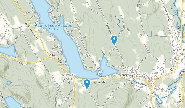 Norway, Maine Map