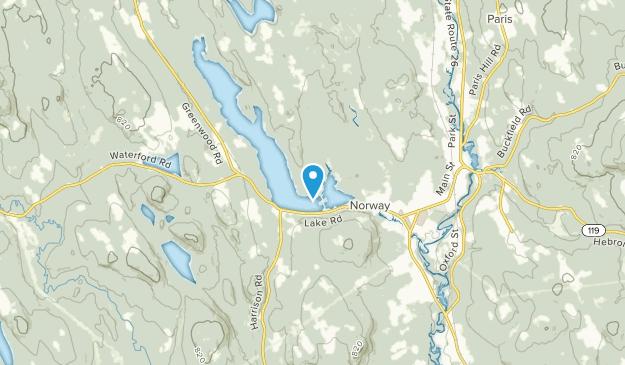 Norway Lake, Maine Map