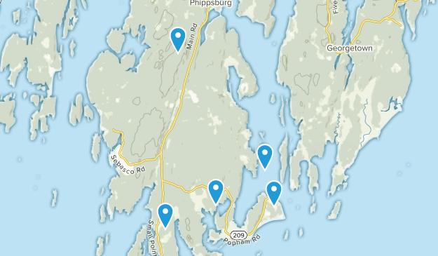 Phippsburg, Maine Map