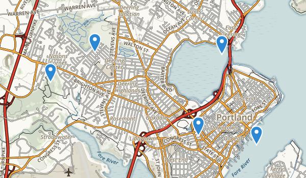 Portland, Maine Map