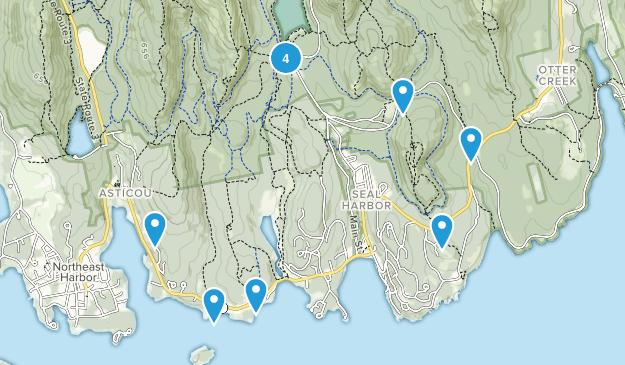 Seal Harbor, Maine Map