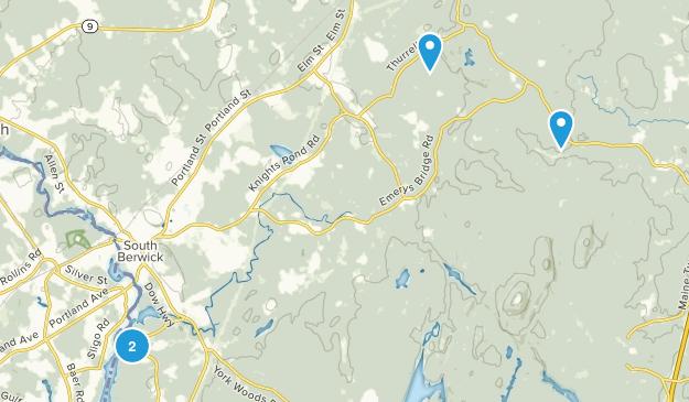 South Berwick, Maine Map