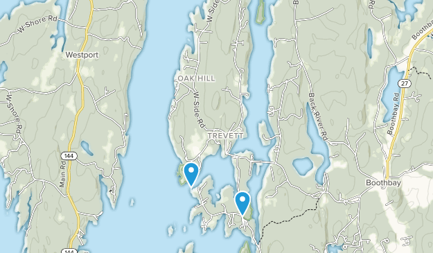 Trevett, Maine Map