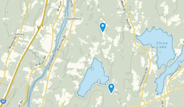 China Lake Maine Map.Best Trails Near Vassalboro Maine Alltrails