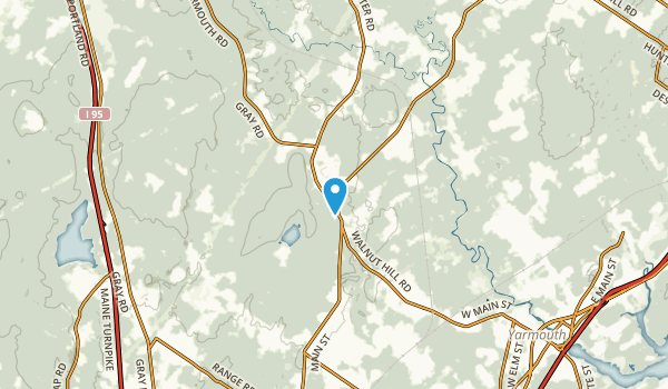 Walnut Hill, Maine Map