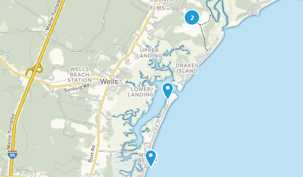 Wells, Maine Map