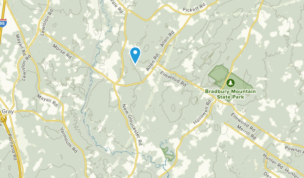 West Pownal, Maine Map