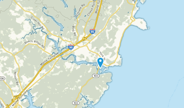 York Harbor, Maine Map