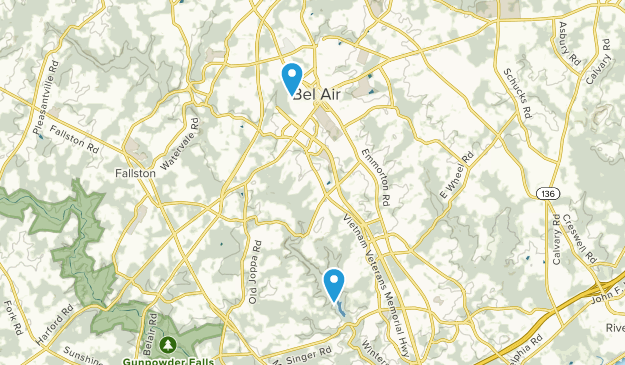 Bel Air, Maryland Map