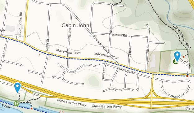 Cabin John, Maryland Map