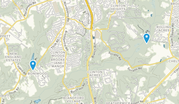 Clinton, Maryland Map