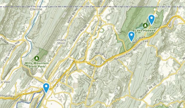 Cumberland, Maryland Map