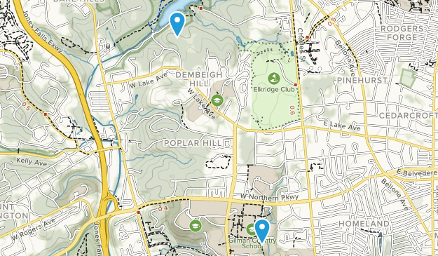 Dembeigh Hill, Maryland Map