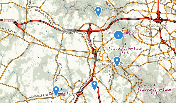 Ellicott City, Maryland Map