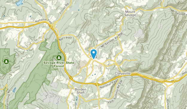 Frostburg, Maryland Map