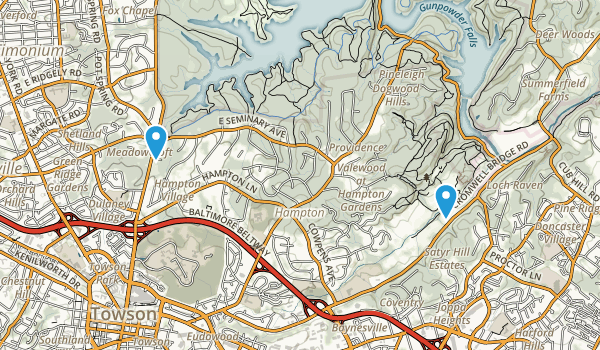 Hampton, Maryland Map