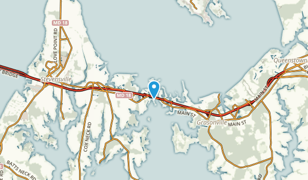 Kent Narrows, Maryland Map