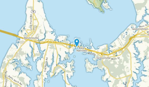 Kent Narrows, Maryland Map
