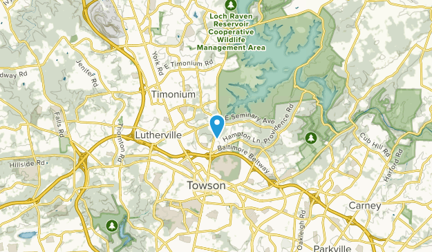 Lutherville, Maryland Map