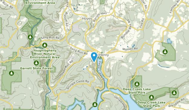 McHenry, Maryland Map