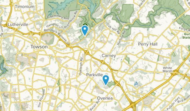 Parkville, Maryland Map