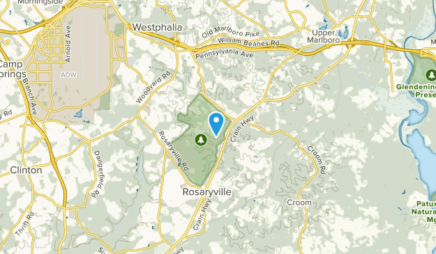 Rosaryville, Maryland Map