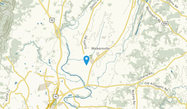Walkersville, Maryland Map