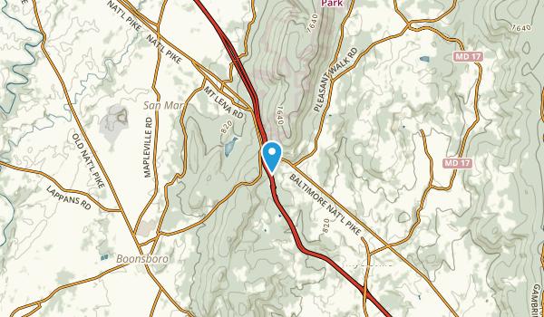 Wolfsville Crossing, Maryland Map