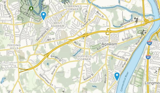 Agawam, Massachusetts Map