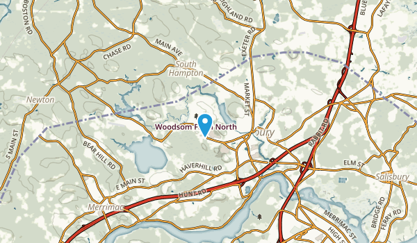 Amesbury Town, Massachusetts Map