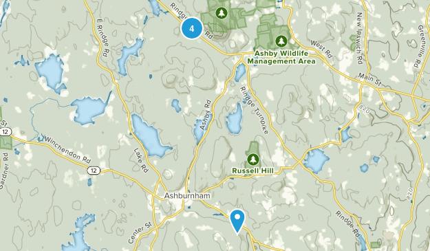 Ashburnham, Massachusetts Map