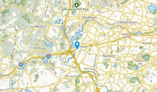 Auburndale, Massachusetts Map