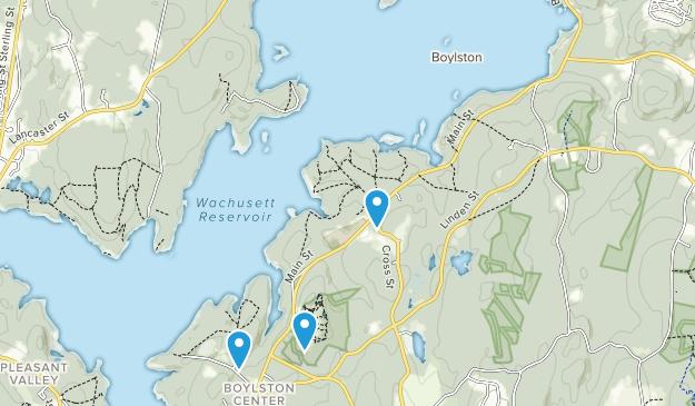 Boylston, Massachusetts Map