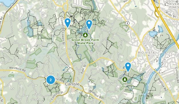 Carlisle, Massachusetts Map