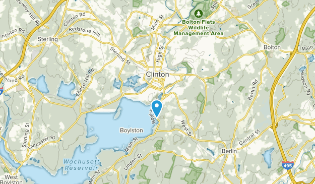 Clinton, Massachusetts Map