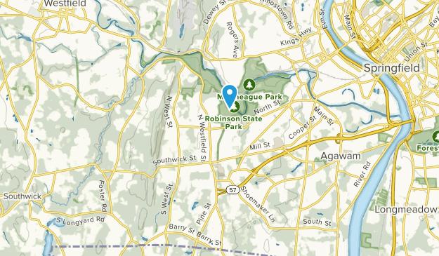 Feeding Hills, Massachusetts Map