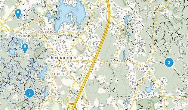 Foxborough, Massachusetts Map