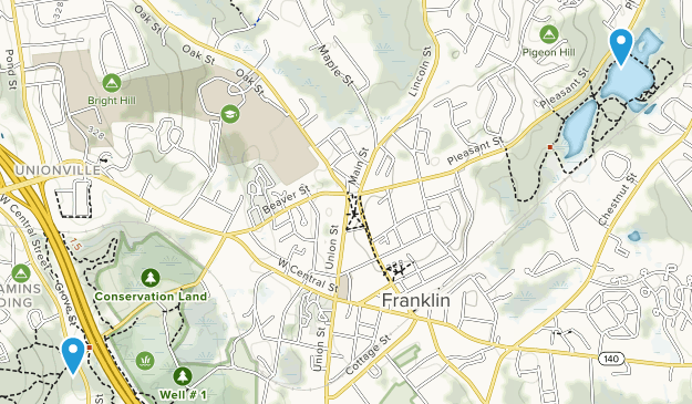 Franklin Town, Massachusetts Map