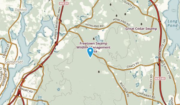 Freetown, Massachusetts Map