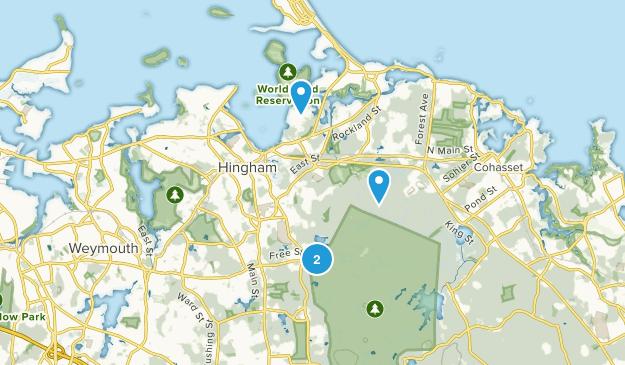 Hingham, Massachusetts Map